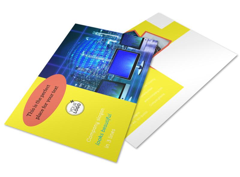 Fun Web Designers Postcard Template