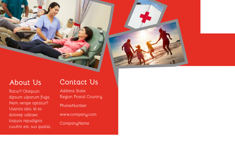 Blood Donation Centers Postcard Template Preview 3