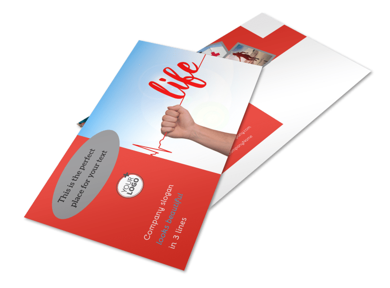 Blood Donation Centers Postcard Template Preview 1