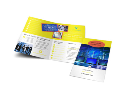 Fun Web Designers Bi-Fold Brochure Template