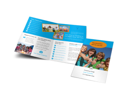 Summer Camps Bi-Fold Brochure Template