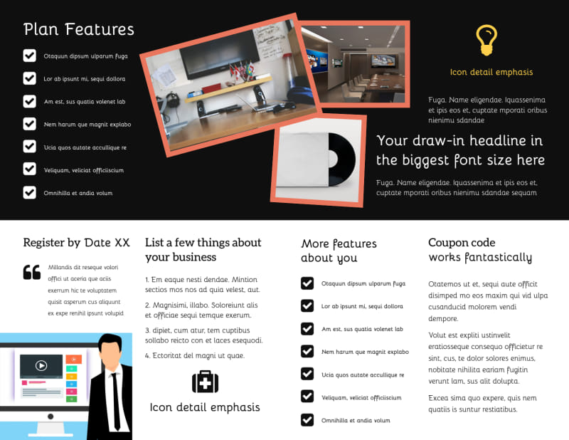 DVD Video Production Brochure Template Preview 3
