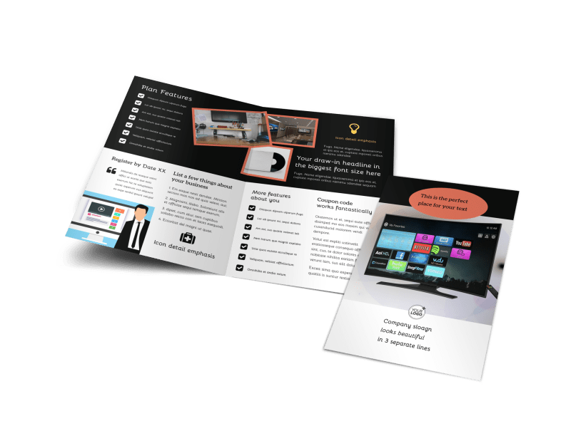 DVD Video Production Brochure Template Preview 1
