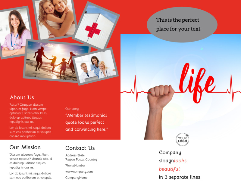 Blood Donation Centers Brochure Template Preview 2