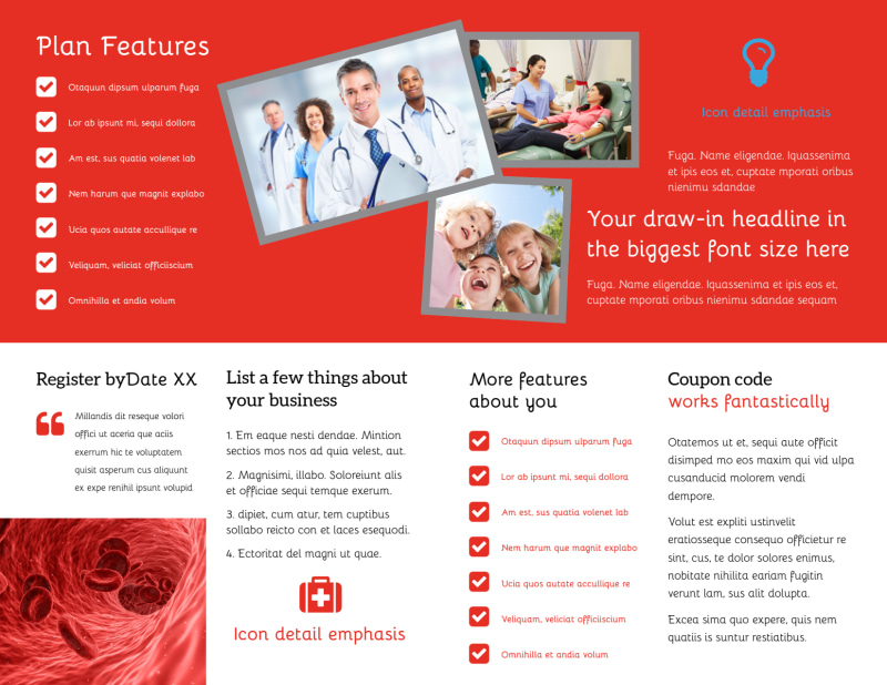 Blood Donation Centers Brochure Template Preview 3
