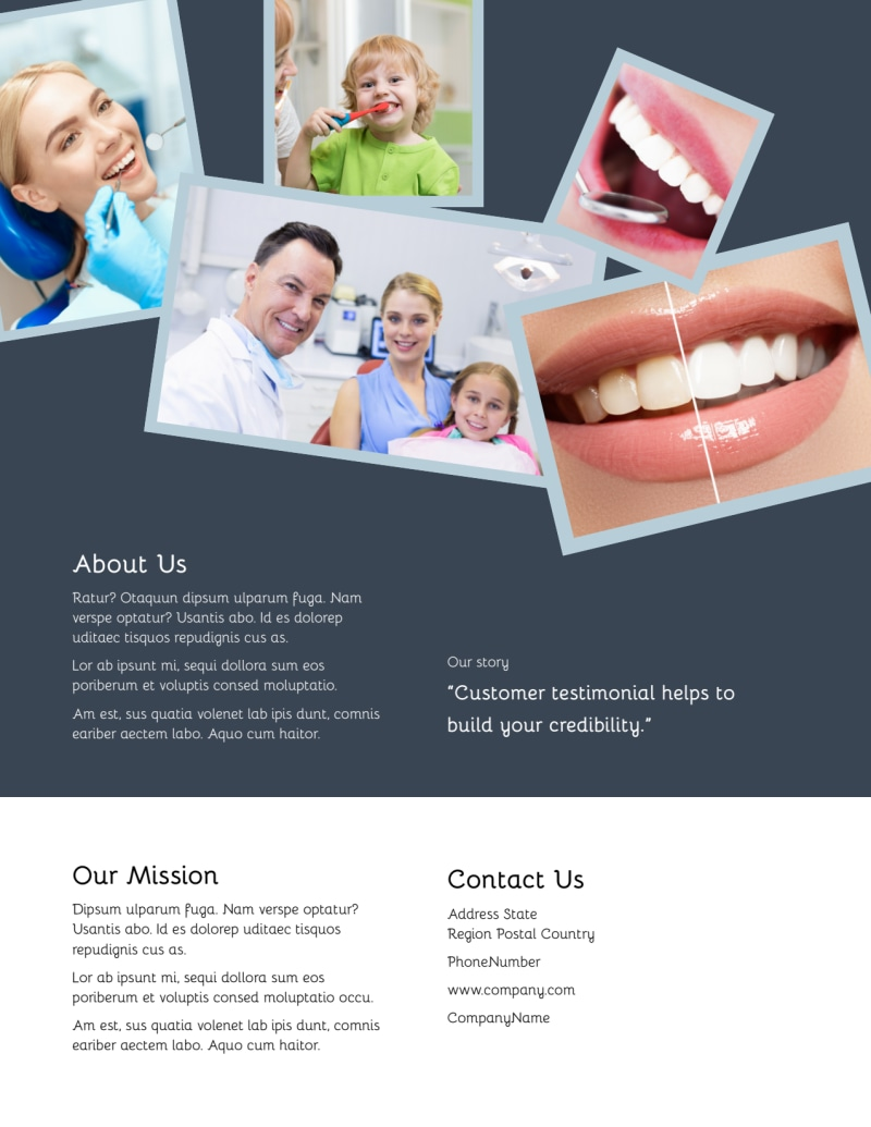 Family Dentists Flyer Template Preview 3