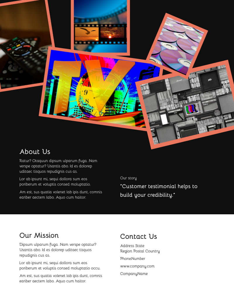 DVD Video Production Flyer Template Preview 3