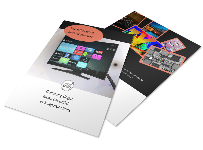 DVD Video Production Flyer Template Preview 1