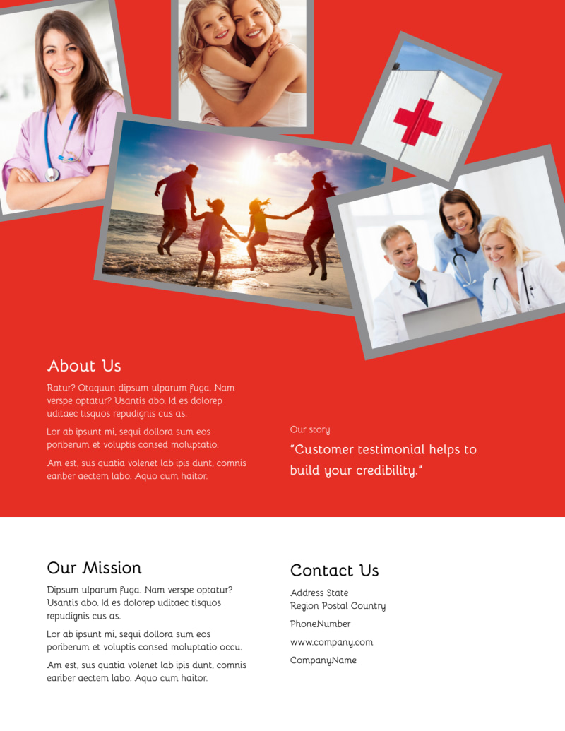 Blood Donation Centers Flyer Template Preview 3