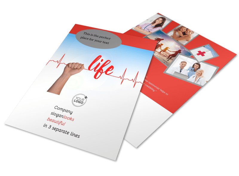 Blood Donation Centers Flyer Template Preview 1