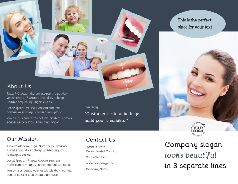 Family Dentists Brochure Template Preview 2