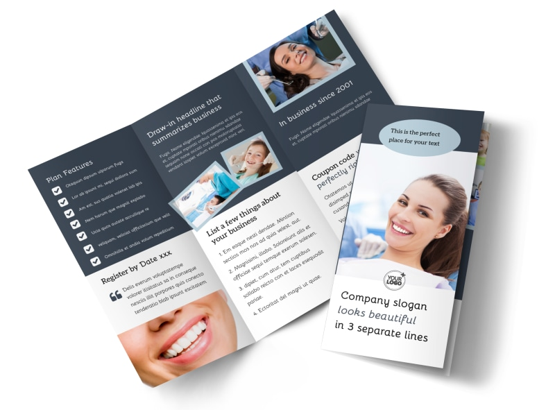 Family Dentistry Tri Fold Brochure Template