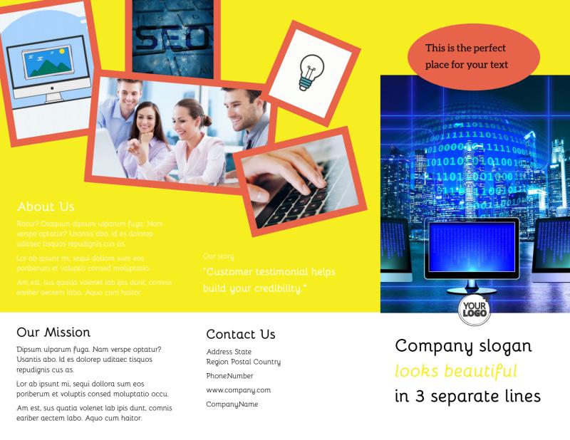 Fun Web Designers Brochure Template Preview 2