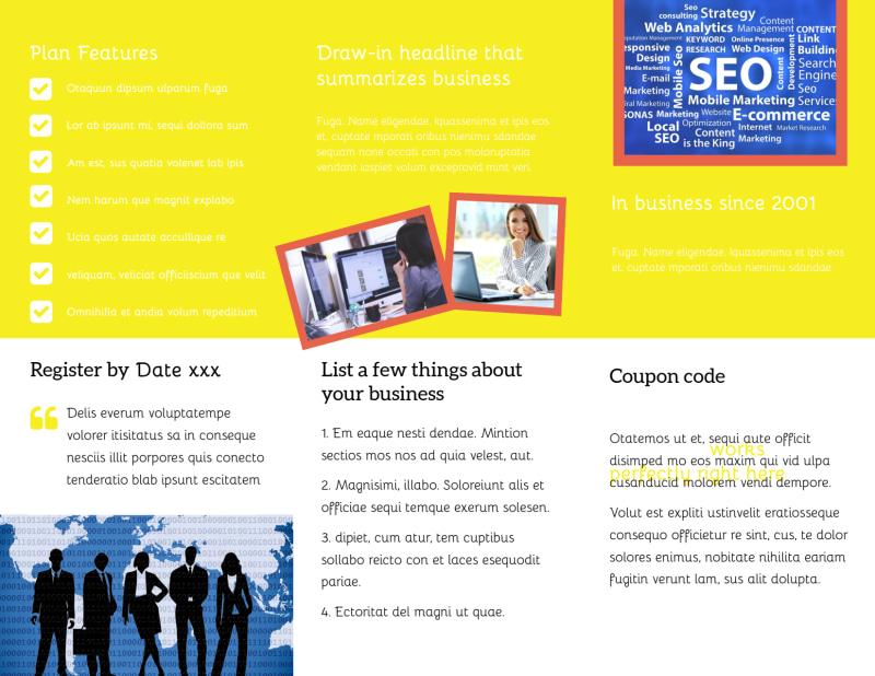 Fun Web Designers Brochure Template Preview 3