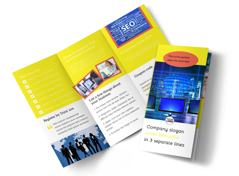 Fun Web Designers Brochure Template Preview 1
