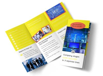 Fun Web Designers Tri-Fold Brochure Template