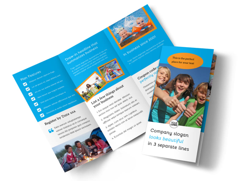 Summer Camps Brochure Template MyCreativeShop - Summer camp brochure template