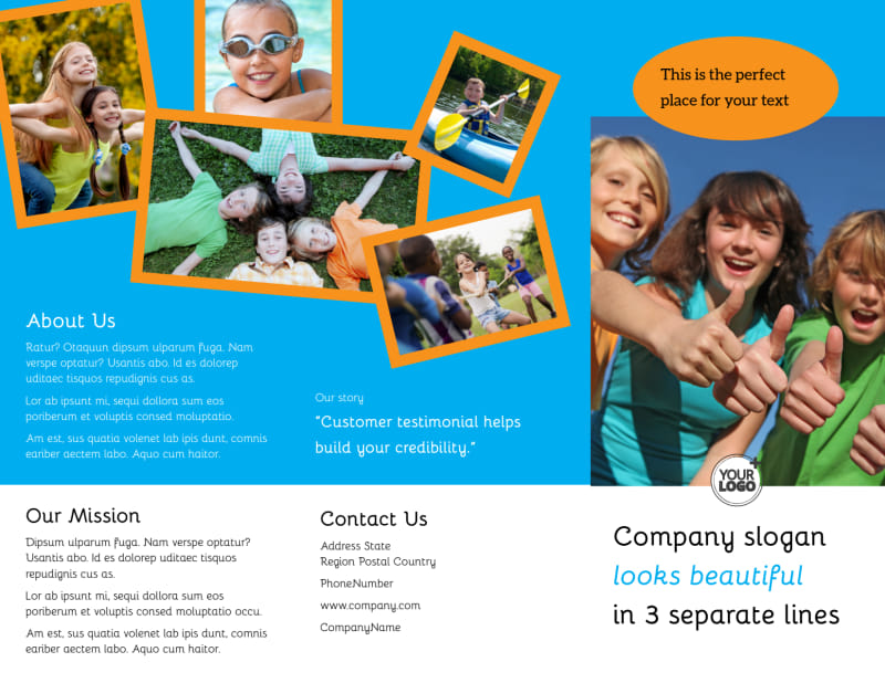 Summer Camps Brochure Template Preview 2