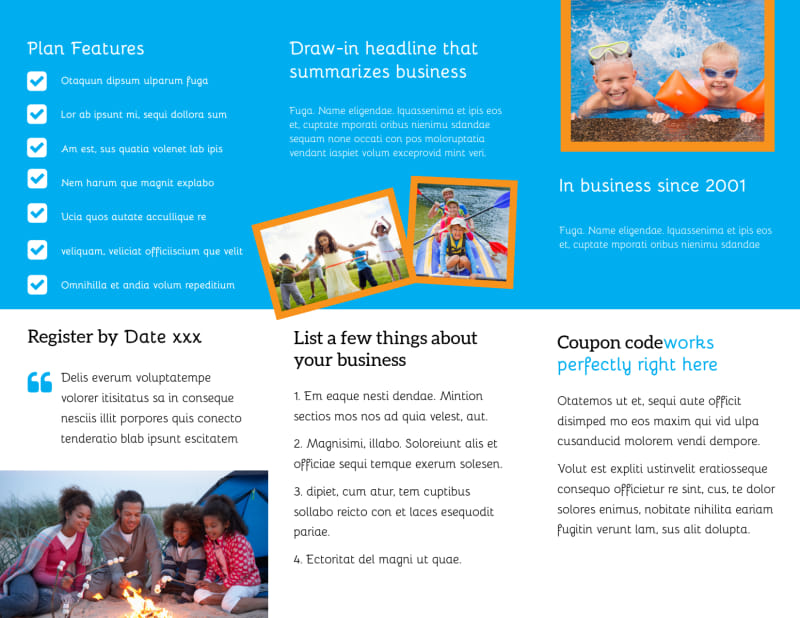 Summer Camps Brochure Template Preview 3