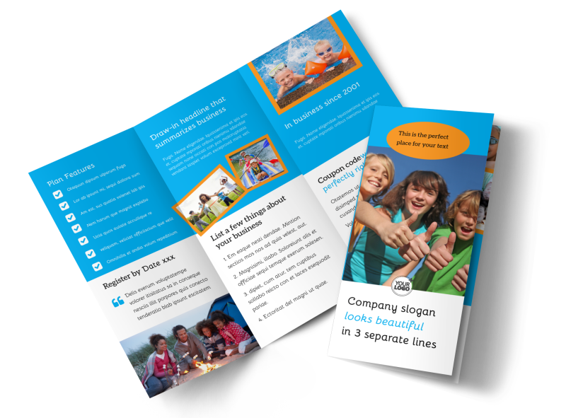 Summer Camps Brochure Template Preview 1