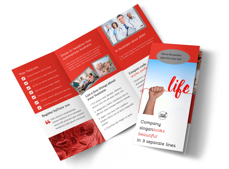 Blood Donation Centers Tri Fold Brochure Template  Donation Flyer Template