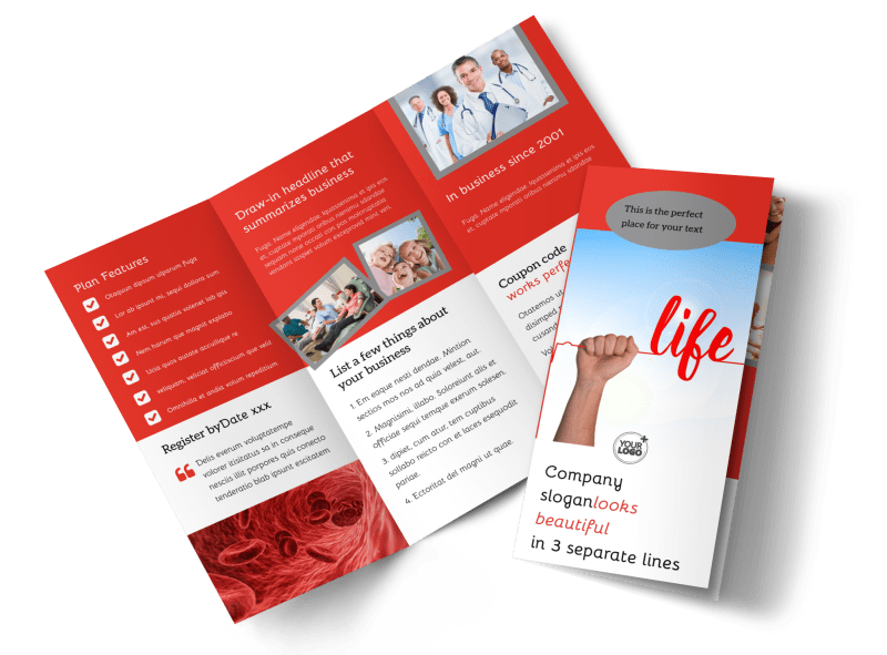Blood Donation Centers Brochure Template Preview 1