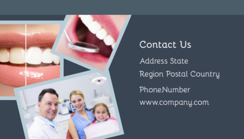 Family Dentists Business Card Template Preview 3