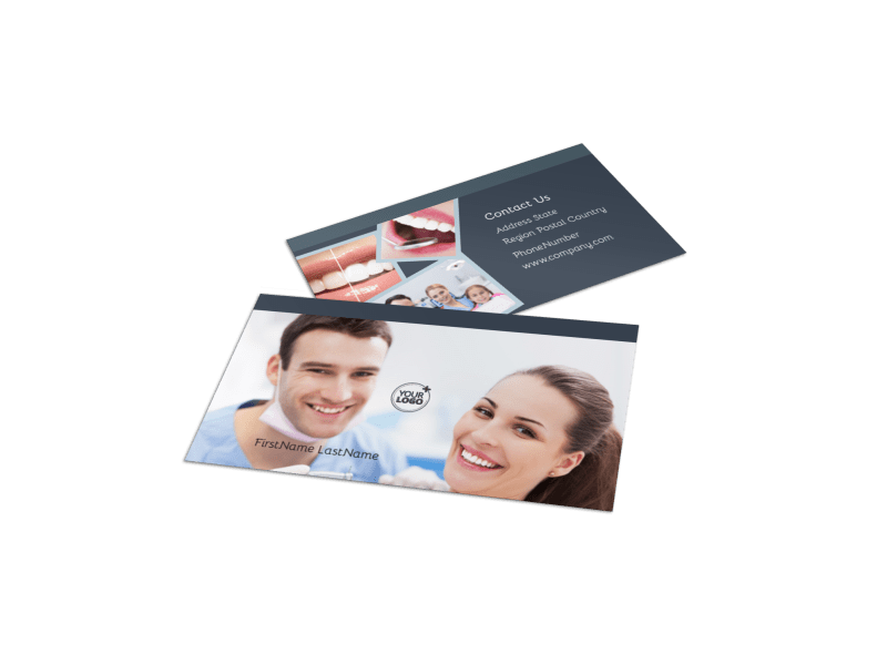 Family Dentists Business Card Template Preview 1