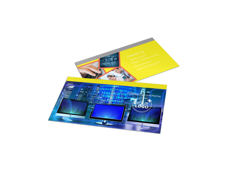 Fun Web Designers Business Card Template Preview 1