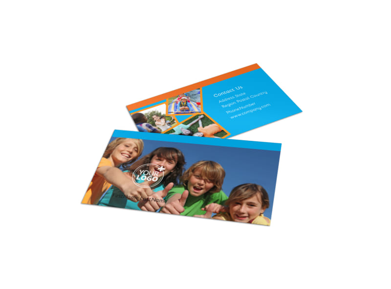 Summer Camps Business Card Template