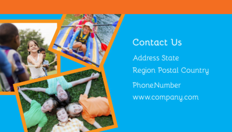 Summer Camps Business Card Template Preview 3