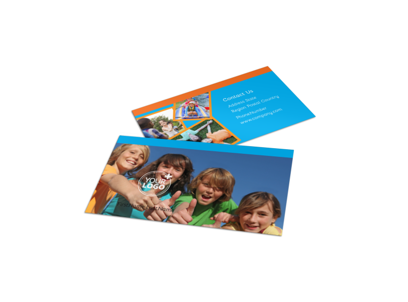 Summer Camps Business Card Template Preview 1