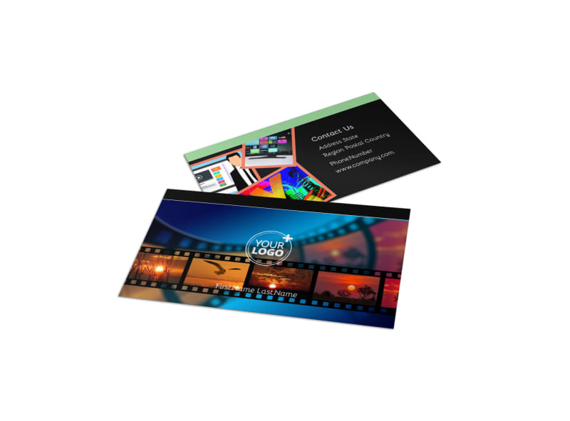 Dvd video production business card template mycreativeshop for Video production business cards