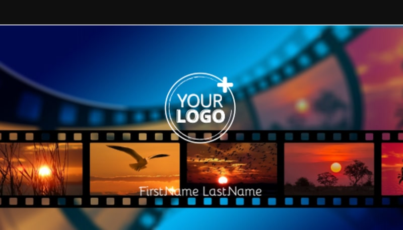 DVD Video Production Business Card Template Preview 2