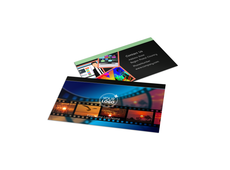 DVD Video Production Business Card Template Preview 1
