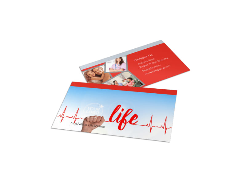 Blood Donation Centers Business Card Template