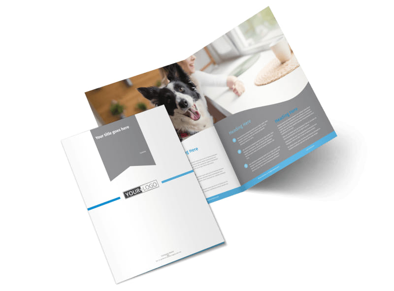 Pet Hotel & Spa Bi-Fold Brochure Template 2