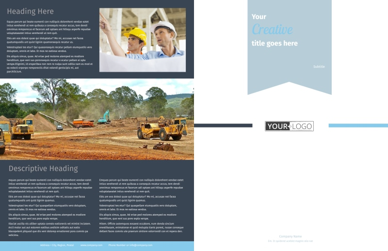 Civil Engineering Brochure Template Preview 2