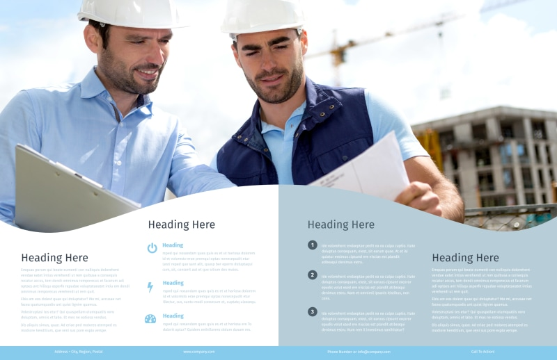 Civil Engineering Brochure Template Preview 3