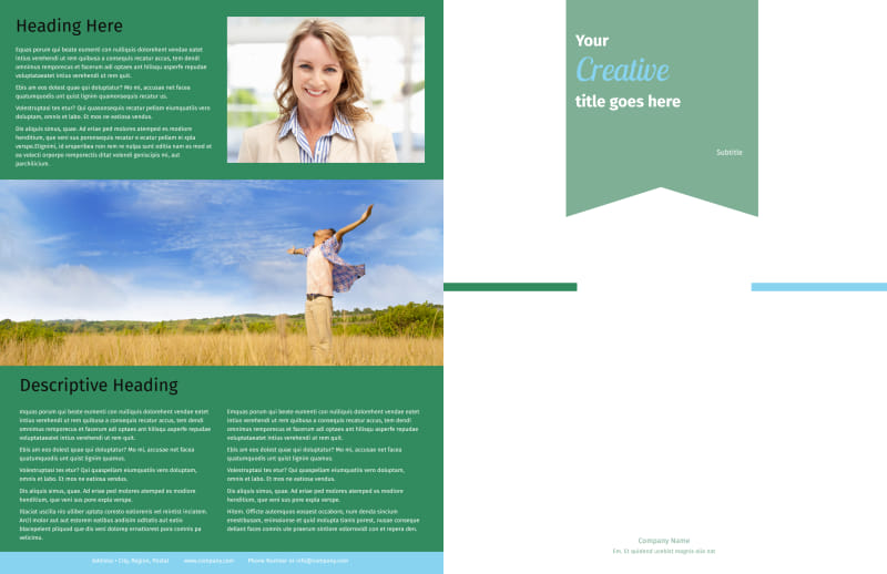 Depression Counseling Brochure Template Preview 2