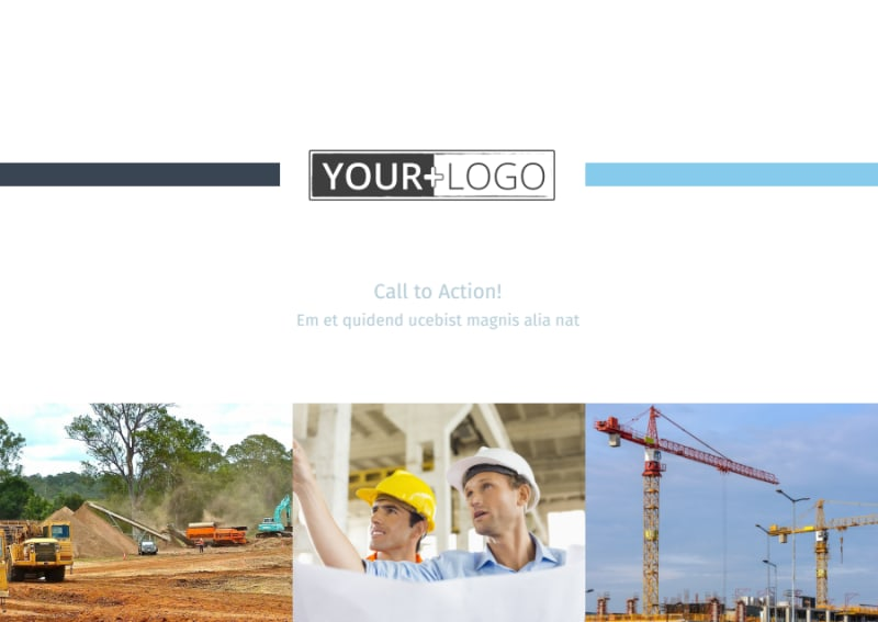 Civil Engineering Postcard Template Preview 2