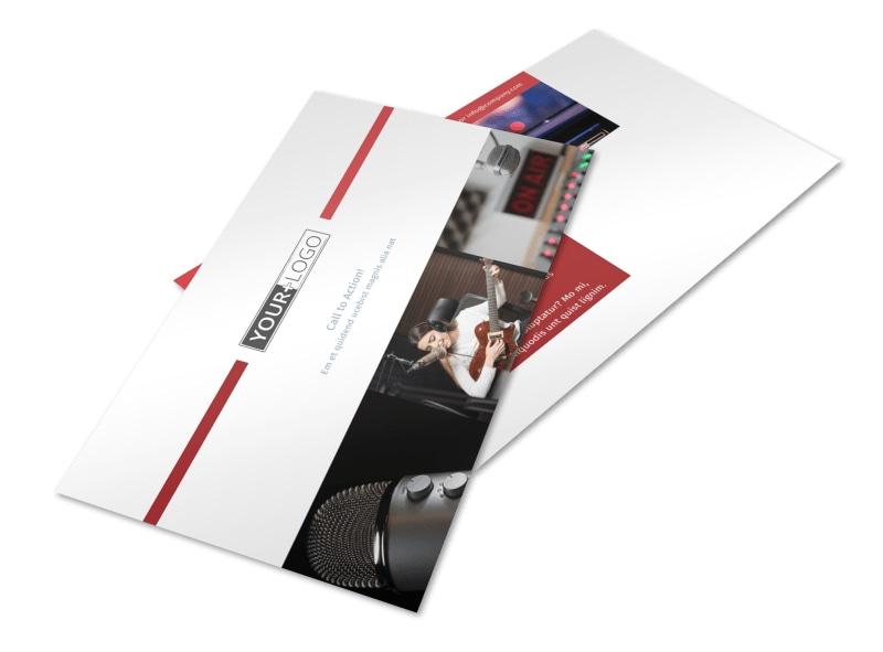 Radio/Broadcast Postcard Template 2