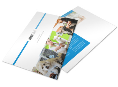 Pet Hotel & Spa Postcard Template preview