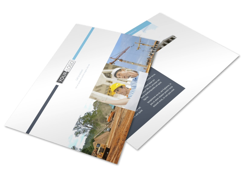 Civil Engineering Postcard Template Preview 4