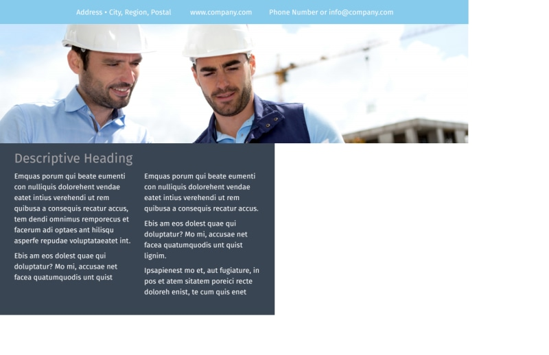 Civil Engineering Postcard Template Preview 3