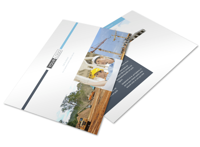 Civil Engineering Postcard Template Preview 1