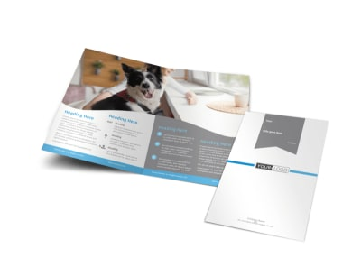Pet Hotel & Spa Bi-Fold Brochure Template