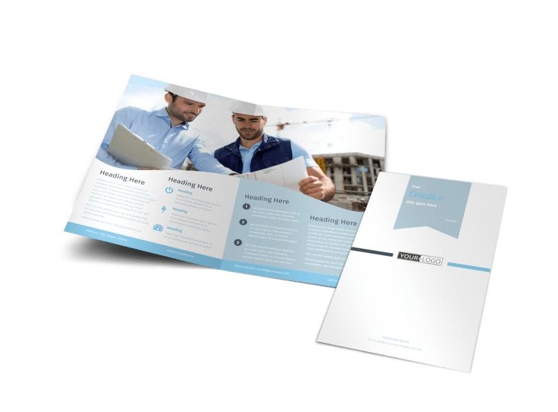 Civil Engineering Brochure Template Preview 4