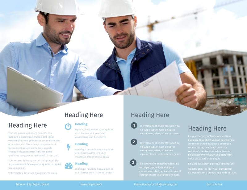 Civil Engineering Brochure Template Preview 3