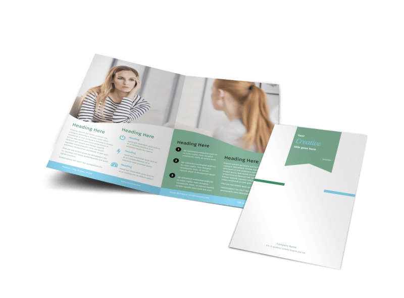 Depression Counseling Bi-Fold Brochure Template